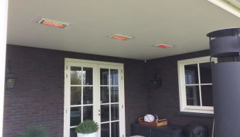Inbouw terrasstralers