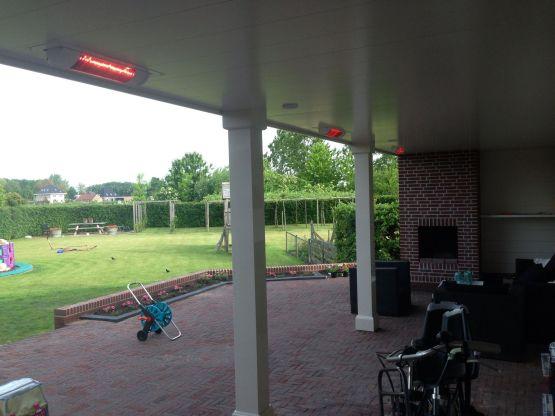 Inbouw terrasverwarming Castricum