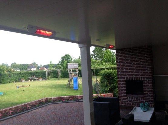Inbouw terrasverwarming Schiphol