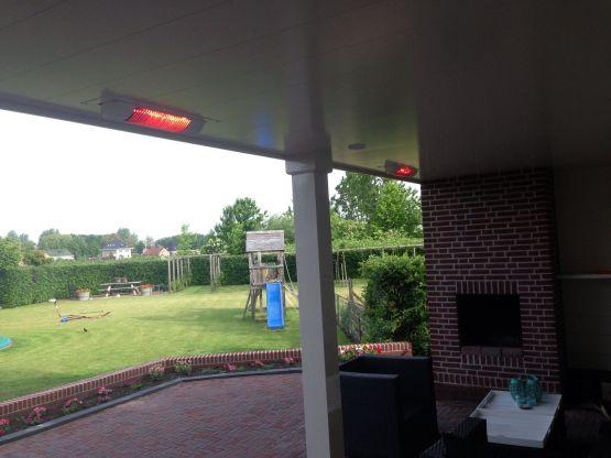 Inbouw terrasverwarming Venhuizen